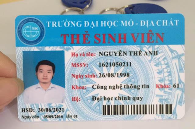 In thẻ sinh viên
