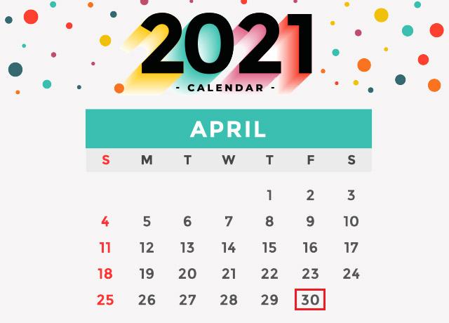 Nghỉ lễ 30/4 năm 2021